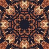 Άνευ ραφής floral διακόσμηση, φλοιός στο ύφασμα Στοκ Εικόνα
