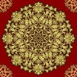 Διακοσμητικός στρογγυλός floral Στοκ Φωτογραφίες