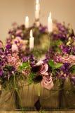 Σχέδιο γαμήλιων floral διακοσμήσεων Τρύγος Στοκ φωτογραφίες με δικαίωμα ελεύθερης χρήσης
