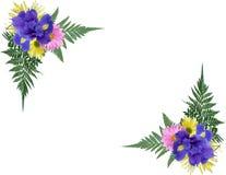 γωνίες floral Στοκ εικόνες με δικαίωμα ελεύθερης χρήσης