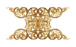 Στοιχεία διακοσμήσεων, εκλεκτής ποιότητας χρυσά floral σχέδια Στοκ εικόνα με δικαίωμα ελεύθερης χρήσης