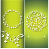 Floral υπόβαθρο λουλουδιών και πεταλούδων Στοκ εικόνα με δικαίωμα ελεύθερης χρήσης