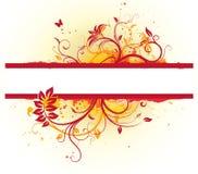 Floral διακοσμητικό έμβλημα Στοκ εικόνα με δικαίωμα ελεύθερης χρήσης