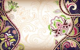 Floral Abstract. Illustration of abstract floral in asia style Stock Images