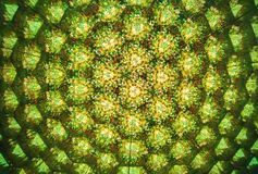 Floral Abstract. An abstract green background made from looking at a bunch of flowers through a kaleidoscope Royalty Free Stock Images