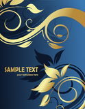 Floral abstract background. Floral gold abstract background with space for text vector illustration