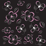 Floral abstract background. Illustration royalty free illustration