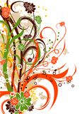 Floral abstract background,. Illustration Stock Photo