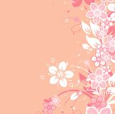 Floral abstract background,  Royalty Free Stock Photo