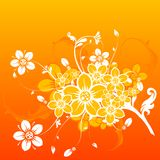 Floral abstract background,. Illustration Stock Image