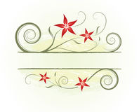 Floral abstract background. Floral gold-red abstract background with space for text royalty free illustration