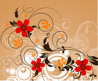 Floral abstract background Royalty Free Stock Photos