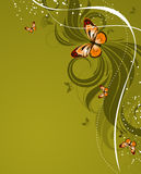 Floral abstract background with butterflies Royalty Free Stock Photography