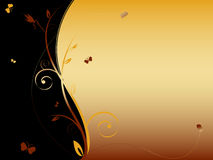 Floral abstract background with butterflies Royalty Free Stock Photos