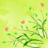 Floral abstract background with butterfly. Floral abstract background. Vector illustration stock illustration