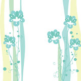 Floral abstract background card Royalty Free Stock Image