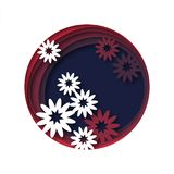 Floral Abstract background with cut out 3d effect. Vector, illustration Stock Photo
