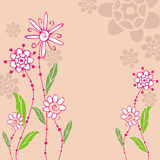 Floral abstract background. Design illustration Stock Images