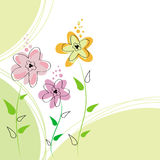 Floral abstract background. Design illustration Stock Photography