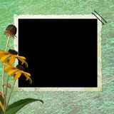 Floral abstract background  with frame. In scrapbooking style Vector Illustration