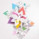Floral abstract background. Illustration Stock Images