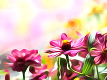 Floral abstract background. Imitation of oil painting flowers. Floral abstract background Royalty Free Stock Photo