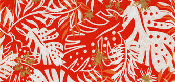 Floral abstract background. Scan of a textile with floral abstract background Royalty Free Stock Photography