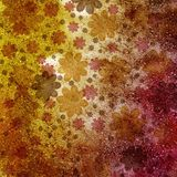 Floral abstract background in scrap-booking style Royalty Free Stock Images