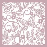 Floral abstract background. Seamless abstract floral background with butterfly royalty free illustration