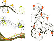 Floral abstract background set Royalty Free Stock Images