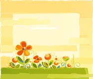 Floral Abstract Background. A Spring Colorful Floral Background Stock Image