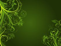 Floral abstract background, vector Royalty Free Stock Photo