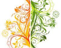 Floral abstract background, vector  Royalty Free Stock Images