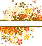 Floral abstract background, vector Royalty Free Stock Photography