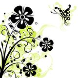 Floral abstract background, vector Stock Photography