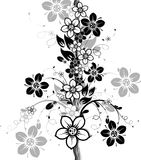 Floral abstract background, vector. Illustration Stock Image