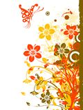 Floral abstract background, vector. Illustration Royalty Free Stock Image