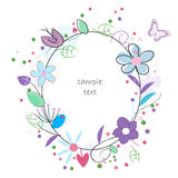Floral abstract background vector greeting card Stock Photography