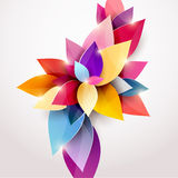 Floral abstract background. Vector illustration Royalty Free Stock Photo