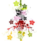 Floral abstract backgrounds, vector Stock Photos