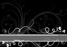 Floral abstract banner Royalty Free Stock Images