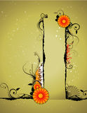 Floral abstract  banner Stock Photo