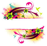 Floral abstract  banner Stock Photos