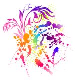 Floral Abstract Banner With Blots Royalty Free Stock Photos