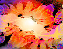 Floral Abstract stock illustration