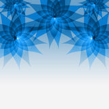 Floral abstract blue background with flowers Stock Photography
