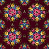 Floral abstract boho or hippie seamless pattern Stock Photos