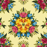 Floral abstract boho or hippie seamless pattern Stock Photo