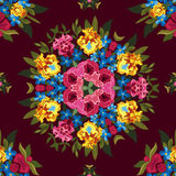 Floral abstract boho or hippie seamless pattern Stock Image