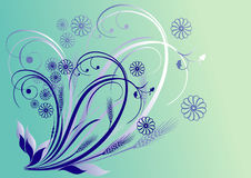 Floral abstract design Stock Images